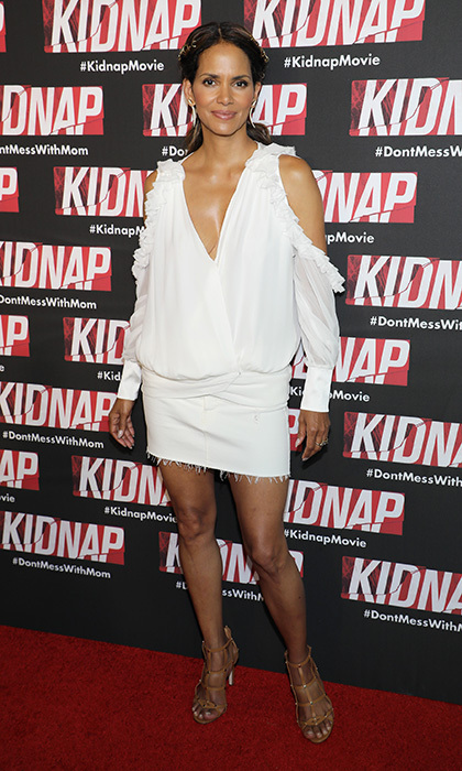 Halle Berry wore summer's coolest shade to the Kidnap screening on July 24 in Miami Beach, Florida.