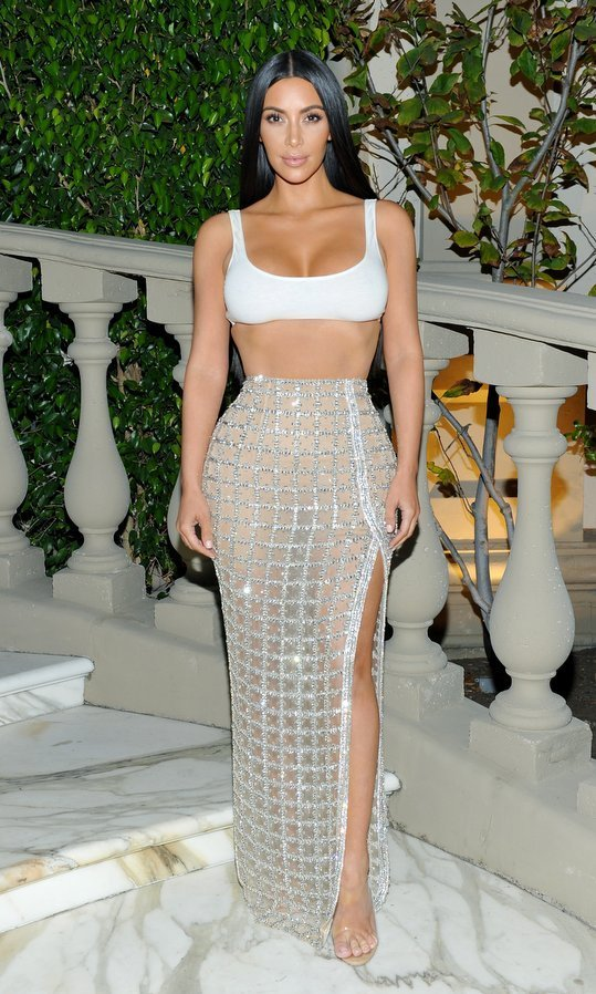 Also on hand to cheer on her bff, Balmain creative director Olivier Rousteing, at the bash was Kim Kardashian.