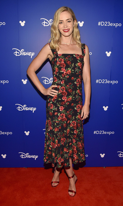 "Emily Blunt looked supercalifragilisticexpialidocious in a Dolce & Gabbana dress on July 15 at the D23 EXPO. The actress, who plays the beloved character Mary Poppins in the sequel Mary Poppins Returns spoke of how she made the iconic character own saying, ""I needed to try to pay homage to Julie Andrews, but carve out a new space for myself,"" adding, ""And we were very loyal to the books."" 