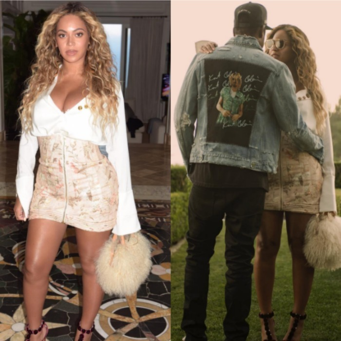 Beyoncé showed off her post-baby body on Instagram posting a photo of herself wearing a high-waisted nude mini skirt and white blouse. The Lemonade singer and husband JAY-Z stepped out on July 13 to attend an event celebrating Roc Nation artist Vic Mensa in L.A.