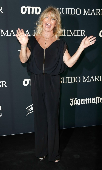 Goldie Hawn was all smiles during the Guido Maria Kretschmer Autumn/Winter 2017 fashion show presented by OTTO at Tempodrom in Berlin, Germany on July 5. 