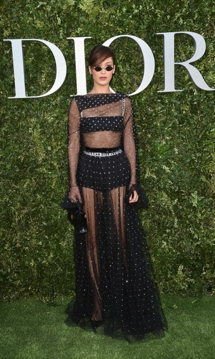 Bella Hadid served '90s glam during the Christian Dior, Couturier du Reve' exhibition launch in Paris on July 3.