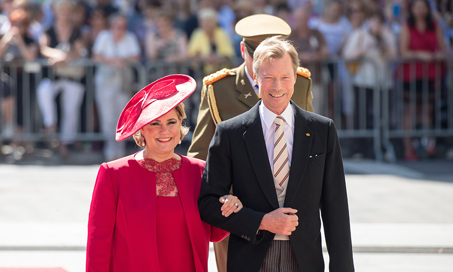 Grand Duke Henri and Grand Duchess Maria Teresa attend national day with Te deum in the Cathedral in Luxemburg city.