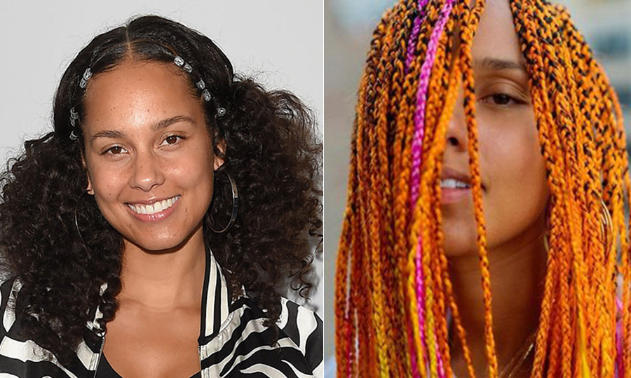 "Alicia Keys took to her Instagram page in July 2017 to show off her dramatic new hairstyle - a bold combination of neon orange, pink and yellow braiding. Fans were quick to praise the new look, with one writing: ""Do it your way!!! Absolutely love it! Go Alicia Keys!!!!!"" Another wrote: ""Beautiful, really a natural face-beauty."" A third post read: ""Stunning. Alicia, you ALWAYS radiate beauty because your soul shines through first.""
