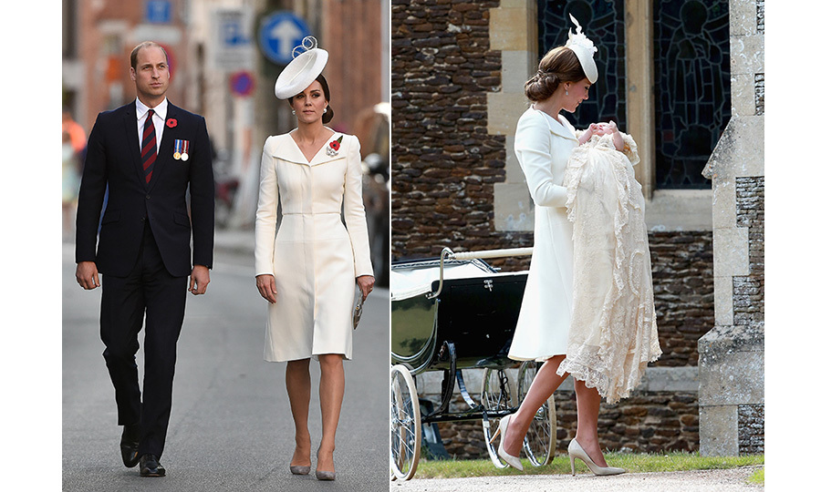 Kate wore a familiar ensemble to attend a special ceremony to mark the centenary of the Battle of Passchendaele in Belgium on July 30. The 35-year-old wore an elegant coat dress by Alexander McQueen, which she teamed with a pair of grey suede heels and matching purse. She first wore dress back in July 2015 for the christening of her daughter Princess Charlotte.