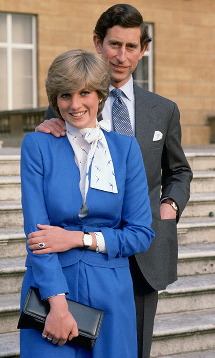 "<Strong><A href=""/tags/0/prince-charles"">Prince Charles</a></strong> and <strong><a href=""/tags/0/princess-diana"">Diana</a></strong> pose for photographs in the grounds of Buckingham Palace after announcing their engagement.
