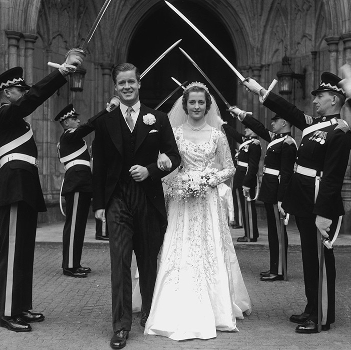 "<strong><a href=""/tags/0/princess-diana"">Diana</a></strong>'s parents pictured on their wedding day in June 1954.