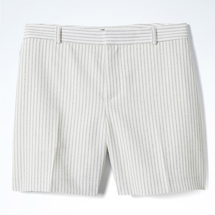 <p><strong>Ryan-Fit Pinstripe Short in Cream Pinstripe</strong>, $62, <em>bananarepublic.ca </em></p>