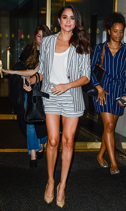 A similar look – this time in stripes – shows that these separates are great ones to have in your wardrobe.