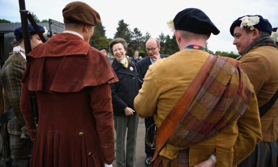 <p>Anne, the Princess Royal attended The 68th Royal Edinburgh Military Tattoo cast rehearsel at Redford Barracks on August 2 in Edinburgh, Scotland. </p><p>Comprised of over 1,200 cast members, the Tattoo has performed for a live audience annually on the Esplanade of Edinburgh Castle. The event, first performed in 1950, has sold out consecutively over the last eighteen years. </p><p>Photo: Jeff J Mitchell/Getty Images</p>