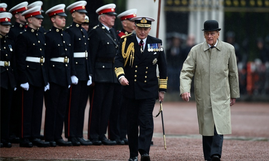 <p>The end of an era! The Duke of Edinburg carried out his final engagement on Wednesday, August 2, before his retirement commenced. The 96-year-old was in good spirits as he arrived at the Captain General's Parade on the forecourt of Buckingham Palace. The parade marked the finale of the 1664 Global Challenge. Philip played the role of Captain General of the Royal Marines, a position he had held for 64 years.</p><p>Photo: Getty Images</p>