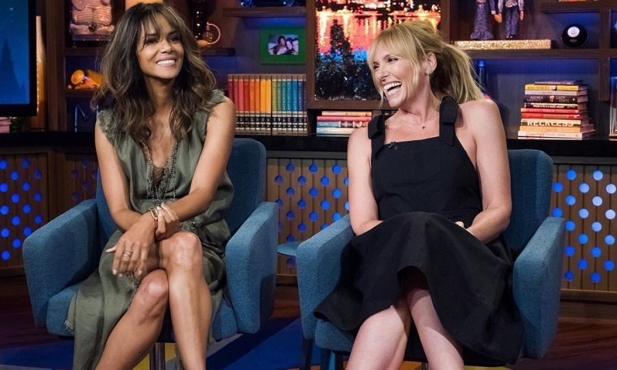 Halle Berry and Toni Collette had a blast appearing on Bravo's <em>Watch What Happens Live With Andy Cohen</em> on August 3. 