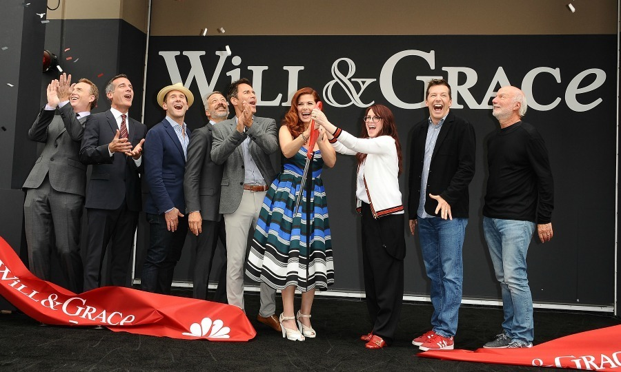 Welcome back! The team behind <em>Will & Grace</em>, including its' stars: Eric McCormack, Debra Messing, Megan Mullally and Sean Hayes, celebrated the show's highly-anticipated return with a ribbon cutting ceremony in L.A. on August 2.