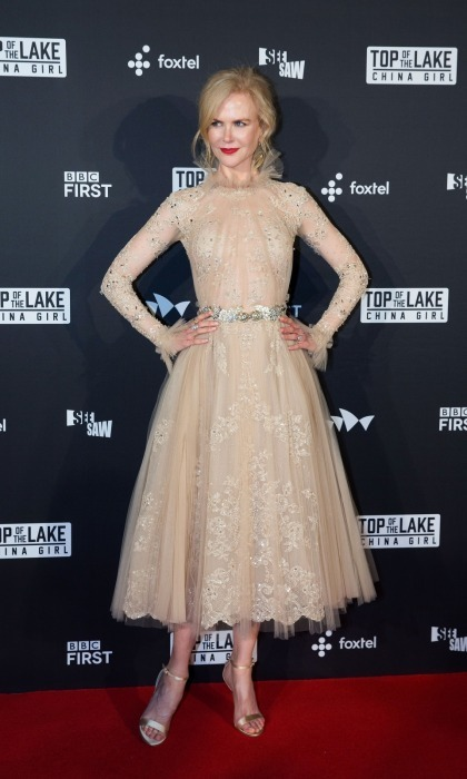 Nicole Kidman was an ethereal beauty as she waltzed onto the red carpet at the Australian premiere of her new series <em>Top of the Lake: China Girl</em> at the Sydney Opera House on August 1. 