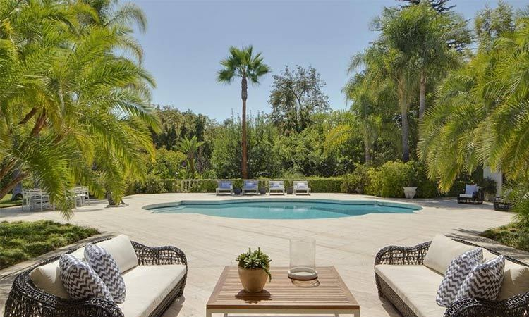 We're sure the family will enjoy spending lots of time at this spacious terrace and swimming pool area, which is furnished with a number of sun loungers, a dining table and outdoor sofa area as well as a separate cabana.
