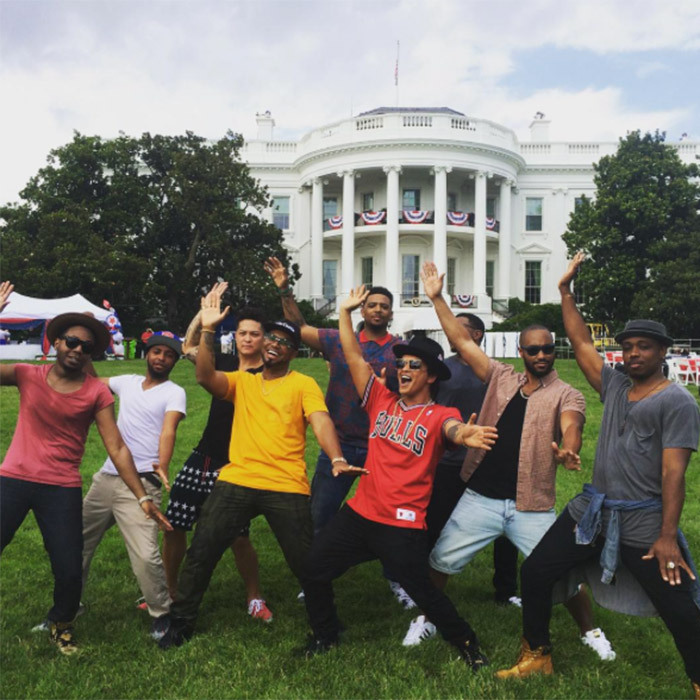 When he and his bandmates danced on the lawn of the White House