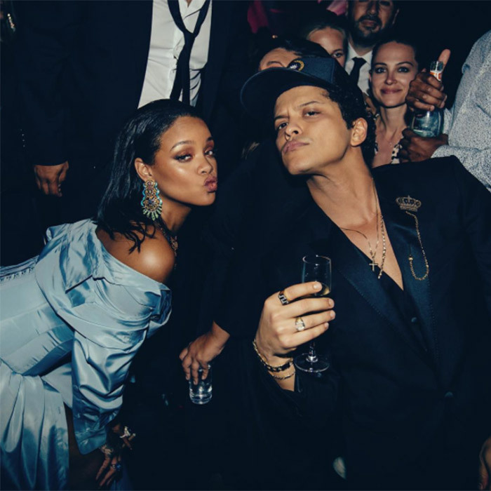 When he pulled a duck face with Rihanna