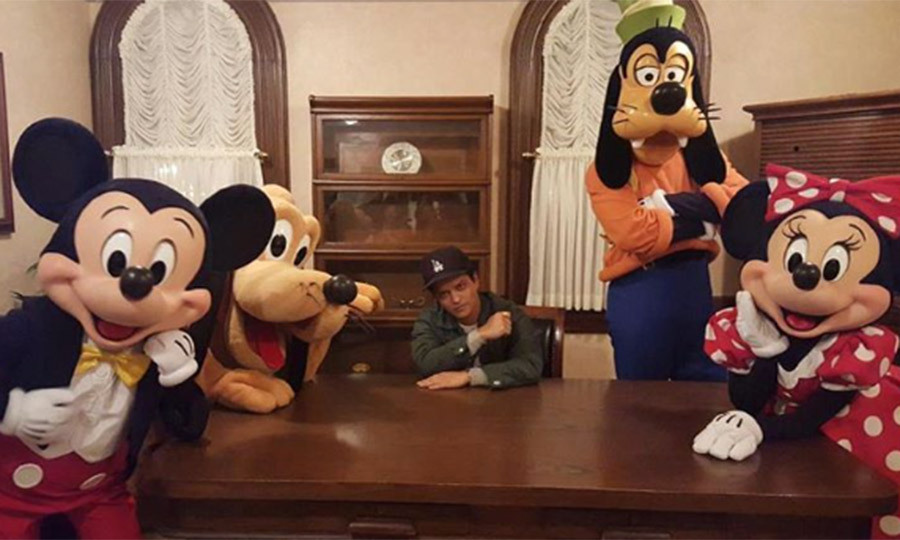 When he posed with his Disney crew
