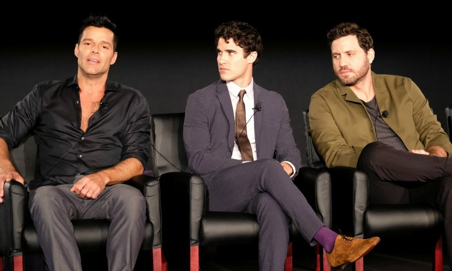 Ricky Martin, Darren Criss and Edgar Ramirez took the stage to talk about their upcoming series <em>The Assassination of Gianni Versace: American Crime Story</em> during the 2017 Summer Television Critics Association Press Tour at Fox Studios in L.A. on Aug 9.