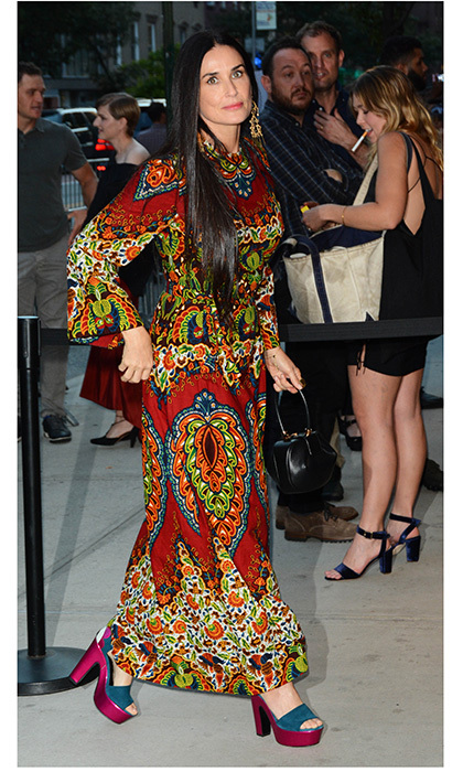 Demi Moore was head-to-toe hippie chic on Aug 8 in the Big Apple. 