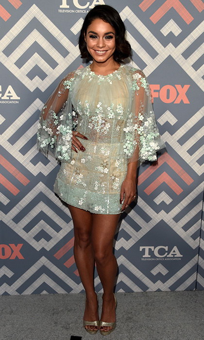 Vanessa Hudgens wore a short and sweet look by Georges Chakra to the FOX 2017 Summer TCA Tour after party on Aug 8 in West Hollywood.