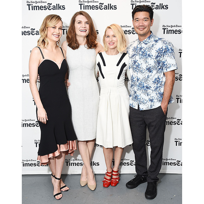 Brie Larson, writer Jeannette Walls, Naomi Watts, and director Destin Daniel Cretton were front and centre at the TimesTalks Series presentation of <em>The Glass Castle</em> at Florence Gould Hall on Aug 8 in New York City. 