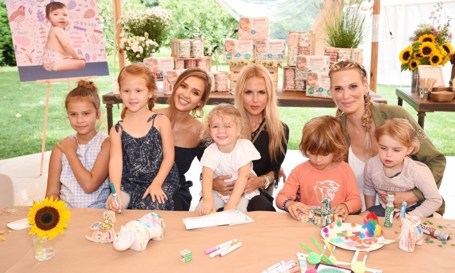 Let's be 'honest' - Jessica Alba's product launch looked incredible! On Aug 5, the 36-year-old actress and founder of The Honest Company celebrated her brand's upcoming limited edition diaper collection. The party was held at a glam private residence in East Hampton, and benefited Baby2Baby, which provides low-income children with diapers, clothing and basic necessities.