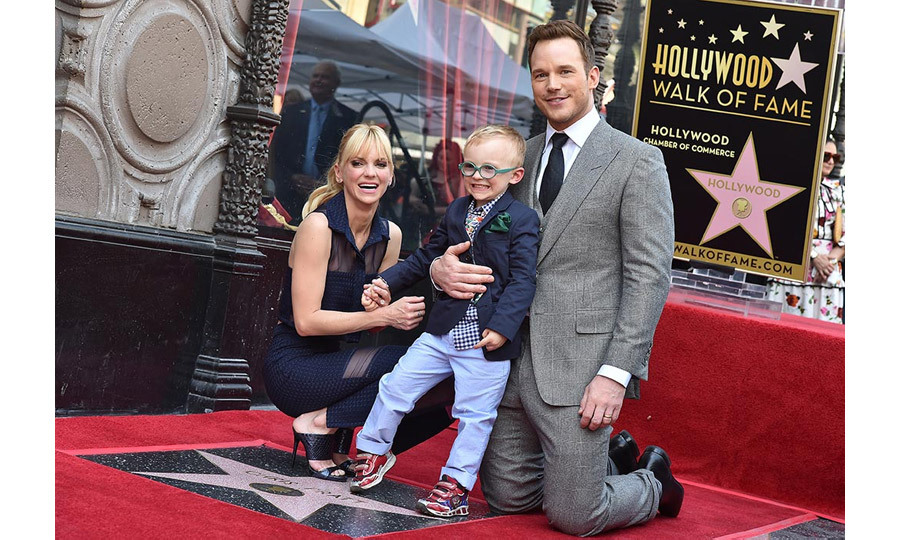 Chris Pratt, Anna Faris and son.