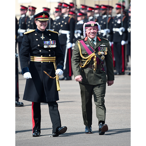 King Abdullah II of Jordan did more than just represent the Queen at the Sovereign's Parade at the Royal Military Academy Sandhurst on Friday (Aug 11). The proud father watched as his son Crown Prince Hussein of Jordan graduated from the prestigious military training school. 