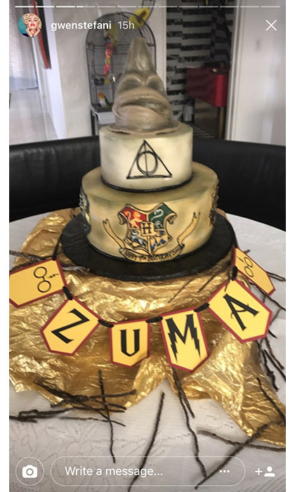 Gwen Stefani throws Harry Potter-themed party for son Zuma.