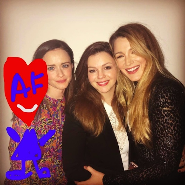 "Blake Lively put her creativity in motion to ensure pal America Ferrera felt included in her epic <em>Sisterhood of the Traveling Pants</em> #TBT. The mother of two captioned the sweet snap of herself with Amber Tamblyn and Alexis Bledel, ""#SistersForever.""