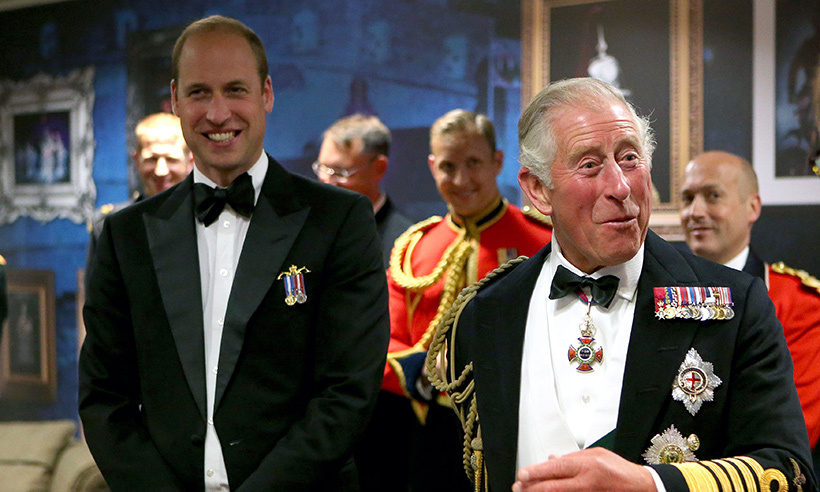 Prince Charles and Prince William carried out a father-son engagement on Aug 15, attending the Royal Edinburgh Military Tattoo in Scotland for the first time together. Charles, who was guest of honour at the Tattoo, wore a Royal Navy Admiral uniform, while his son William looked dapper in black tie with Submariner Dolphins and Golden and Diamond Jubilee medals.