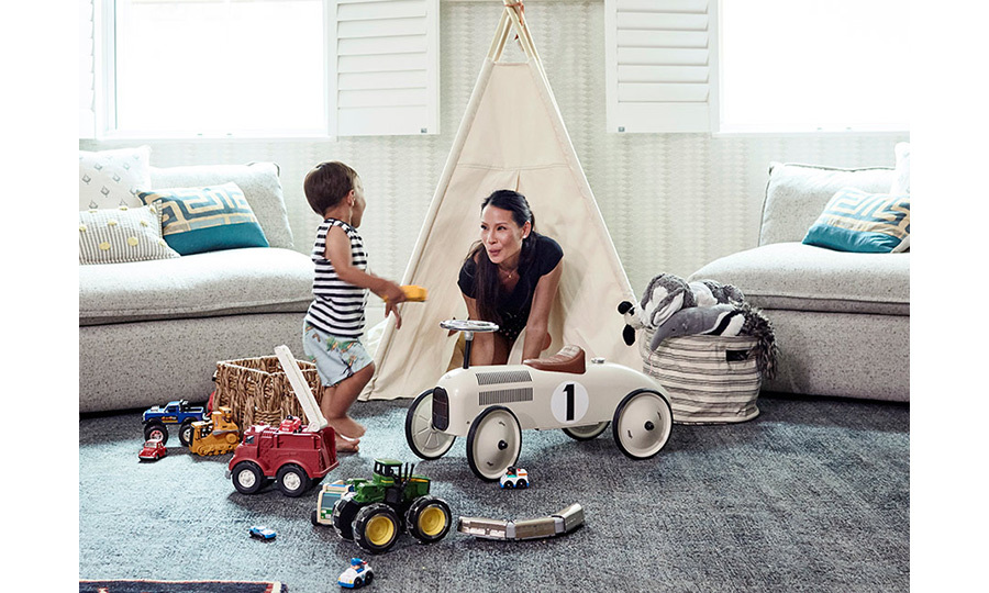 Actress Lucy Liu may have a lot on her plate what with her high-flying career and her son, Rockwell Lloyd, about to enter the terrible two's – but it hasn't stopped the <em>Charlie's Angels'</em> star from trying her hand at a little bit of interior design. 