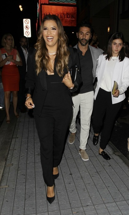 Ham for Ham! Eva Longoria and Jose Baston were all smiles as they left the opening night of Hamilton on August 16 at the Pantages Theatre in L.A.