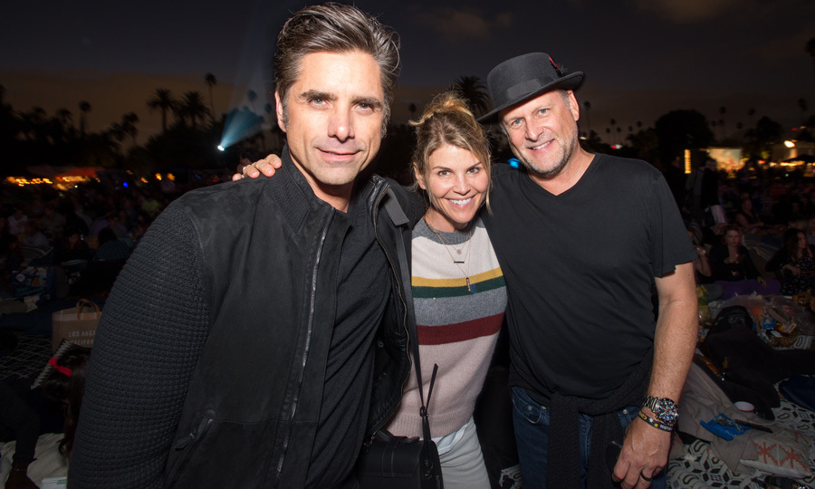 John Stamos celebrated his 54th birthday with Fuller House co-stars Lori Loughlin and Dave Coulier at Cinespia's screening of Some Like It Hot on August 19.