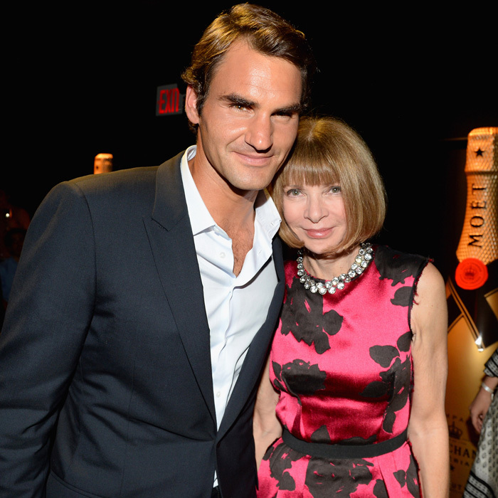 Vogue's Anna Wintour is a massive fan of the Swiss tennis player.