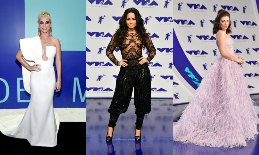 From Katy Perry and Demi Lovato to Shawn Mendes and Lorde, see all the best red-carpet looks from MTV's annual video extravaganza...