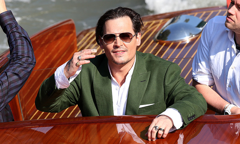 No stranger to boats, <em>Pirates of the Caribbean</em> star Johnny Depp premiered his film <em>Black Mass</em> in Venice in 2015.