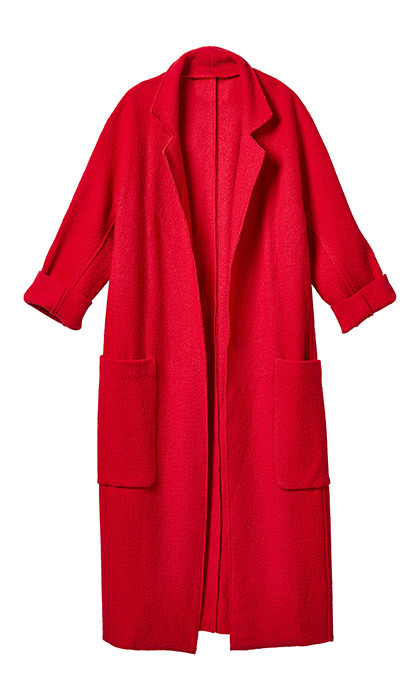 <p><strong>Red Robe Coat</strong>, $200, <em>winners.ca</em></p><hr>
