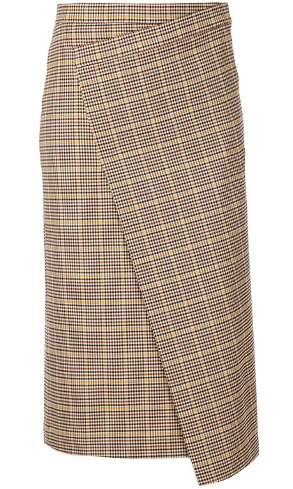<p><strong>Astreat Plaid Pencil wrap skirt</strong>, $366, <em>farfetch.com</em></p>