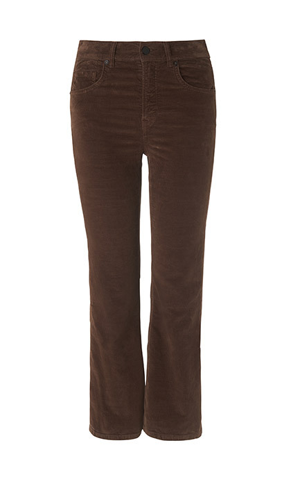 <p><strong>All Saints Heidi Velvet Cropped Trouser in Chocolate Brown</strong>, $124, <em>allsaints.com</em></p><hr>