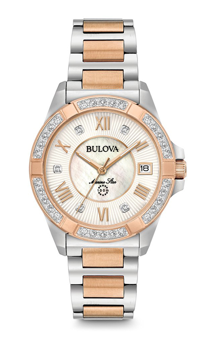 <p><strong>Women's Marine Star Diamond Watch</strong>, $750, at Hudson's Bay, Charm and Peoples, <em>bulova.com</em></p>