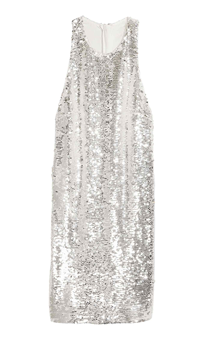 <p><strong>Sequinned Dress</strong>, $80, <em>hm.com</em></p>