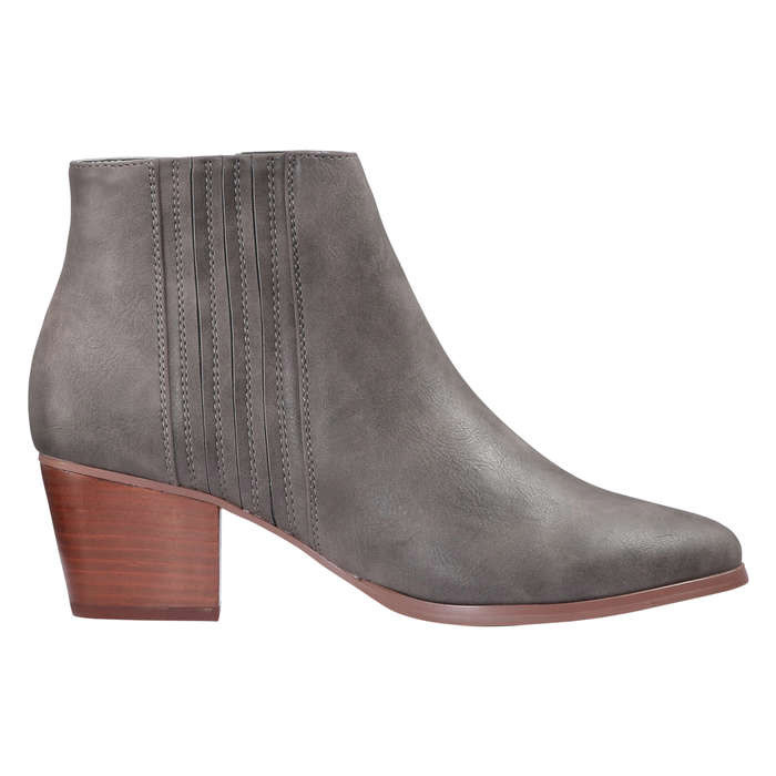 <p><strong>Block Ankle Heels in Dark Grey</strong>, $49, <em>joefresh.com</em></p>