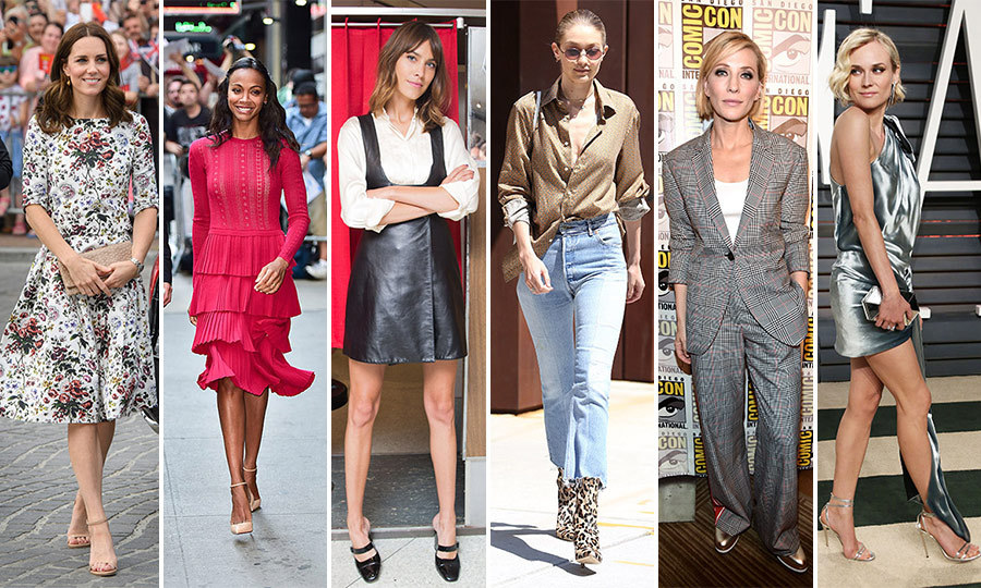 Micro florals, pretty plaids, velvet and leather are just some of the fall trends beloved by fashion mavens like Diane Kruger and Zoe Saldana.