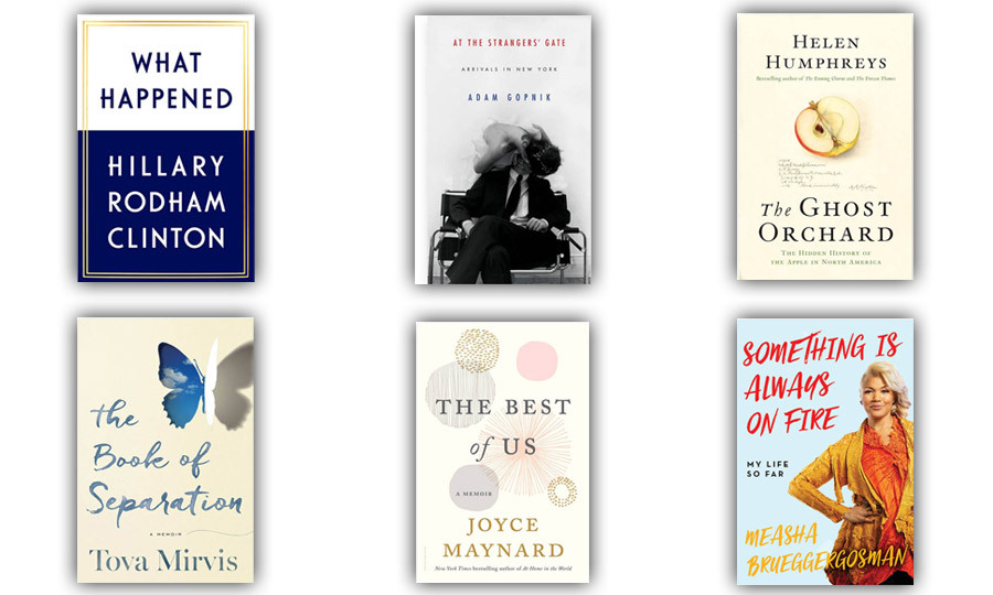 Grab your favourite fall drink and dive into one of these six compelling and inspiring memoirs. From Hillary Clinton's journey to becoming a presidential nominee to Canadian soprano Measha Brueggergosman's exploration of her personal struggles, fall's new titles will satisfy book lovers of every stripe. <em>-- By Chatelaine.com</em>