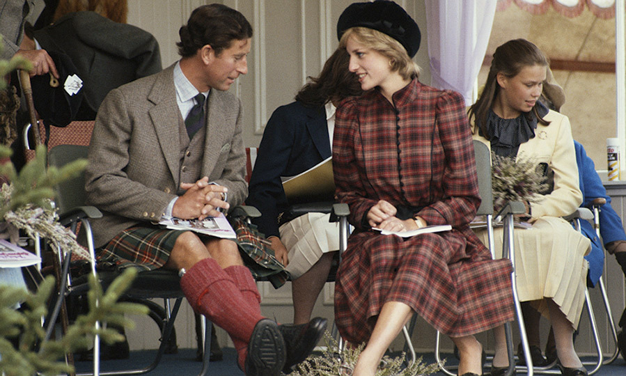 Princess Diana looked elegant in Caroline Charles tartan as she joined her husband Prince Charles at the annual event in 1981.