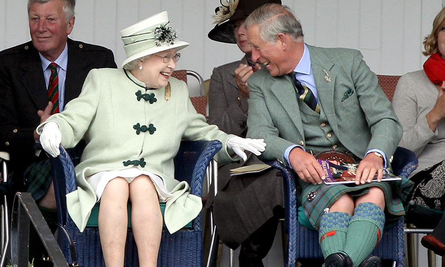 The Queen is known for staying cool, calm and collected when out and about, but the Braemar Gathering is one of the few public outings where she likes to let loose. 
