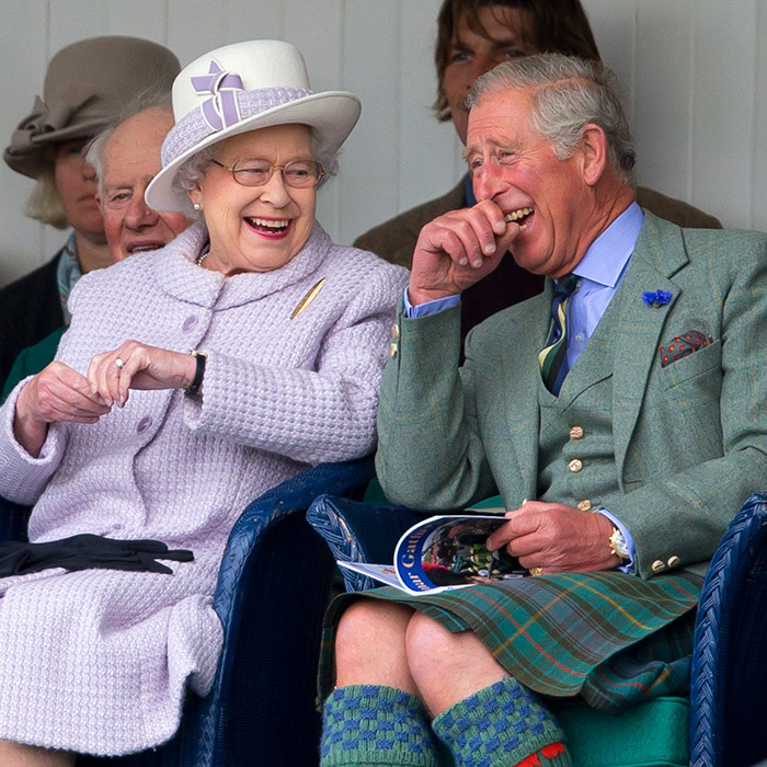 Jolly good time! The Queen and Prince Charles, seen here in 2012, always enjoy themselves during the annual event. 