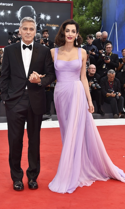 <h4>George and Amal Clooney at the premiere of <em>Suburbicon</em></h4>